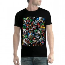 Clowns Smile Funny Colours Men T-shirt XS-5XL