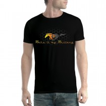 Ford Mustang Grille Gold Logo Men T-shirt XS-5XL