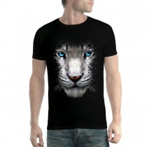 White Tiger Face Blue Eyes Animals Men T-shirt XS-5XL New