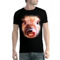 Pig Face Animals Men T-shirt XS-5XL New