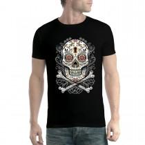 Floral Skull Men T-shirt XS-5XL New