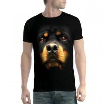 Rottweiler Face Dog Animals Men T-shirt XS-5XL New