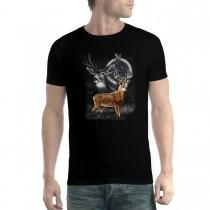 Deer Moonlight Men T-shirt XS-5XL New