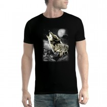 Wild Wolves Moon Men T-shirt XS-5XL