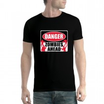 Zombies Ahead Sign Men T-shirt XS-5XL New