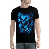 Blue Skulls Men T-shirt XS-5XL