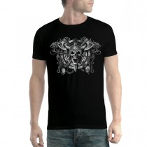 Viking Skull Men T-shirt XL-5XL New