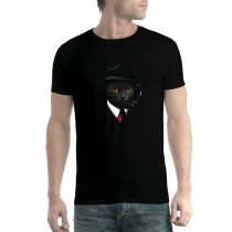 Cat Agent Mafia Men T-shirt XS-5XL New