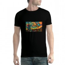 Starry Night Painting Cubism Men T-shirt XS-5XL New