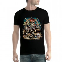 Skull Guns Coins Pirate Men T-shirt XS-5XL New