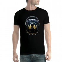 Rottweiler Headphones Dog Mens T-shirt XS-5XL