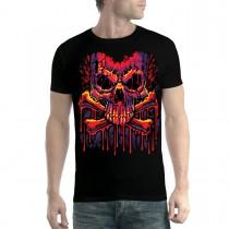 Melting Skull Crossbones Men T-shirt XS-5XL New