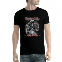 Outlaw Biker Skeleton Mens T-shirt XS-5XL