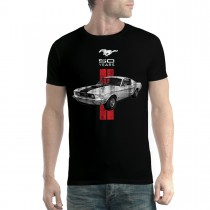 Mustang 50 Years Classic Car Logo Men T-shirt XS-5XL