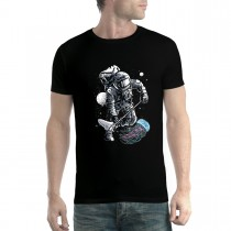 Astronaut Jellyfish Space Walk Mens T-shirt XS-5XL