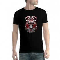 Bloody Skull Diamond Star Mens T-shirt XS-5XL