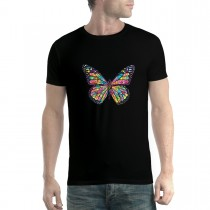 Butterfly Rainbow Colours Mens T-shirt XS-5XL