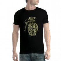 Grenade Weapon War Mens T-shirt XS-5XL