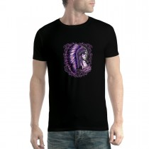 Tribe Girl War Bonnet Headdress Mens T-shirt XS-5XL
