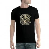 Pirate Skull Eye Patch Mens T-shirt XS-5XL