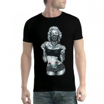 Marilyn Monroe Tattoo Hot Body Men T-shirt XS-5XL