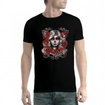 Dead Girl Beauty Roses Mens T-shirt XS-5XL