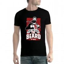 The Beard Is Here Superhero Mens T-shirt XS-5XL