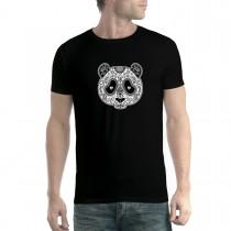 Panda Cross Tattoo Mens T-shirt XS-5XL