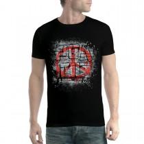 Peace Sign Graffiti Mens T-shirt XS-5XL