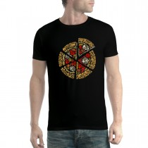 Pizza Slice Dough Cheese Mens T-shirt XS-5XL