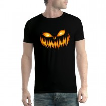 Scary Pumpkin Halloween Mens T-shirt XS-5XL