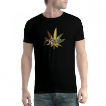 Rasta Leaf Marijuana Men T-shirt XS-5XL