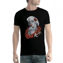 Marilyn Monroe Tattoo Roses Men T-shirt XS-5XL