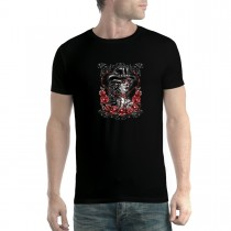 Cowgirl Rosary Skull Day of the Dead Mens T-shirt XS-5XL