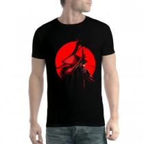 Samurai Katana Japanese Warrior Monk Mens T-shirt XS-5XL