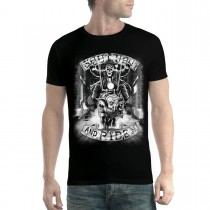 Skeleton Pig Rider Mens T-shirt XS-5XL