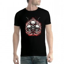 Skulls Chain Spades Mens T-shirt XS-5XL