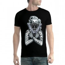 Marilyn Monroe Tattoo Gangster Guns Men T-shirt XS-5XL