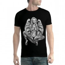 Marilyn Monroe Angel Blonde Tattoo Men T-shirt XS-5XL