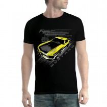 Mustang Yellow Boss 302 Men T-shirt XS-5XL New
