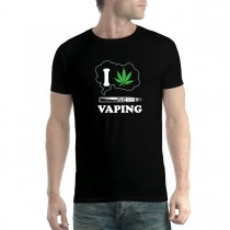 I Love Vaping Cannabis Marijuana Men T-shirt XS-5XL New