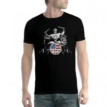 Rock Drums Peace Men T-shirt XS-5XL