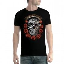 Dia De Muertos Roses Floral Skull Men T-shirt XS-5XL