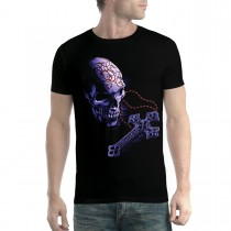 Rosary Skull Crucifix Men T-shirt XS-5XL New