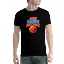 Basketball Court Men T-shirt XS-5XL New