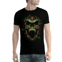 Thorn Skull Leaves Men T-shirt XS-5XL New