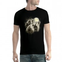 Wolves Howl Full Moon Men T-shirt XS-5XL