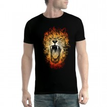 Lion Flames Inferno King Mens T-shirt XS-5XL