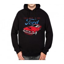 Ford Mustang 1965 Classic Car Mens Hoodie S-3XL