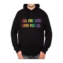 Love Rainbow LGBT Mens Hoodie S-3XL